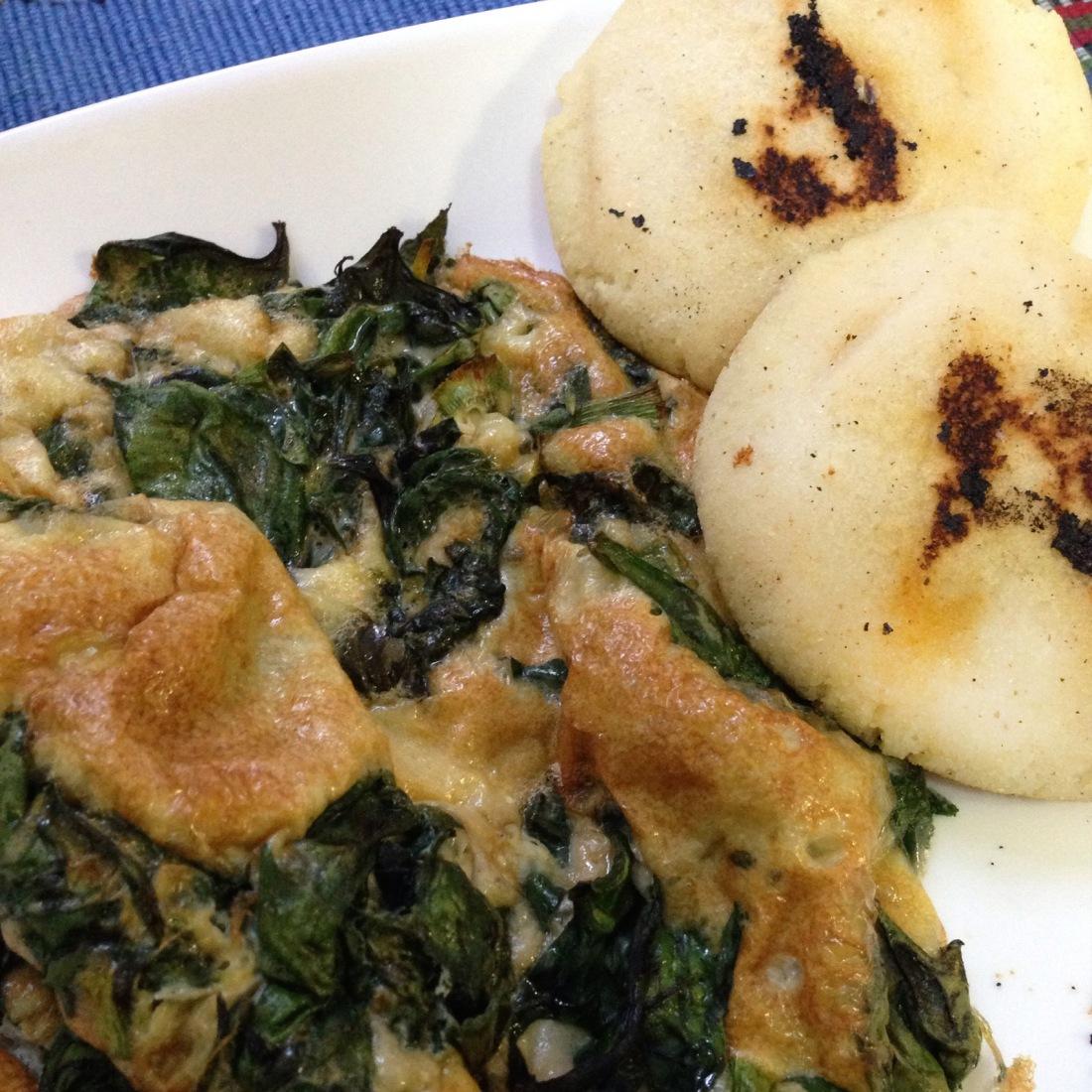 Frittata de espinacas y Hierbas